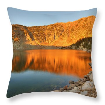 Lake Katherine Sunrise Throw Pillow by Alan Ley