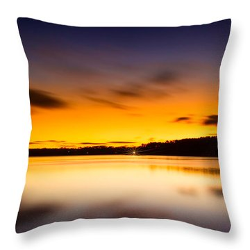 Lake Lanier Sunrise Throw Pillow