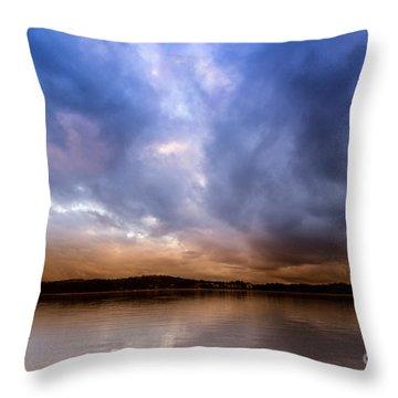 Lake Lanier Sunset Throw Pillow