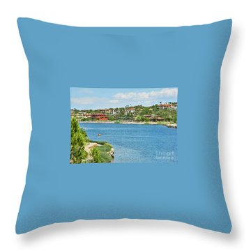 Throw Pillow featuring the photograph Lake Las Vegas In May by Emmy Marie Vickers