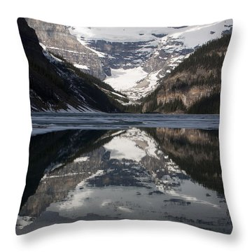 Lake Louise Alberta Canada Throw Pillow