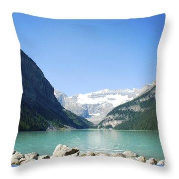 Lake Louise Alberta Canada Throw Pillow