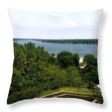 Lake Macatawa From Mount Pisgah Throw Pillow