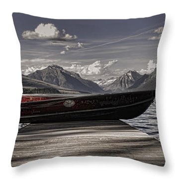 Throw Pillow featuring the photograph Lake Mcdonald by Ellen Heaverlo