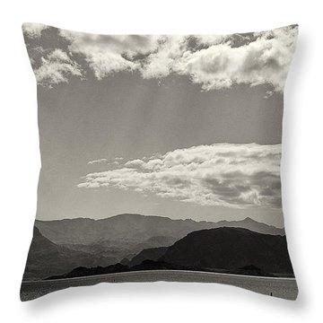 Lake Mead Nevada April 2012 Throw Pillow by Joseph Duba