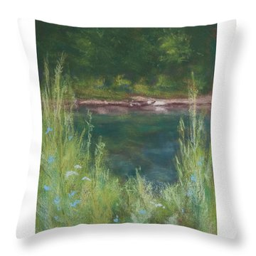 Lake Medina Throw Pillow