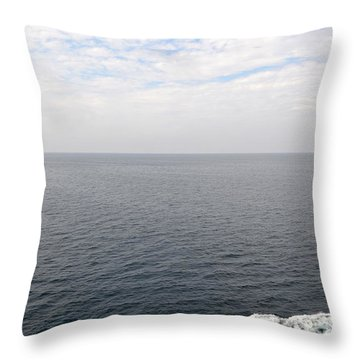 Lake Michigan Midpoint Throw Pillow by Michelle Calkins