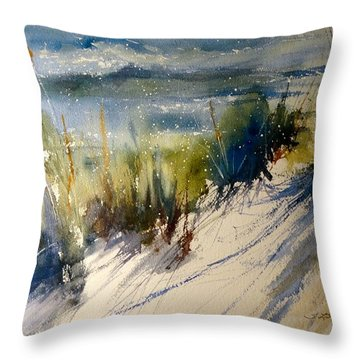 Lake Michigan October Throw Pillow