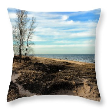 Throw Pillow featuring the photograph Lake Michigan Shoreline by Lauren Radke
