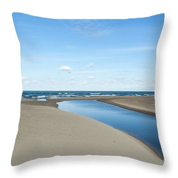 Lake Michigan Waterway  Throw Pillow