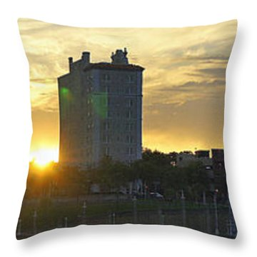 Lake Mirror Pano Throw Pillow by Laurie Perry
