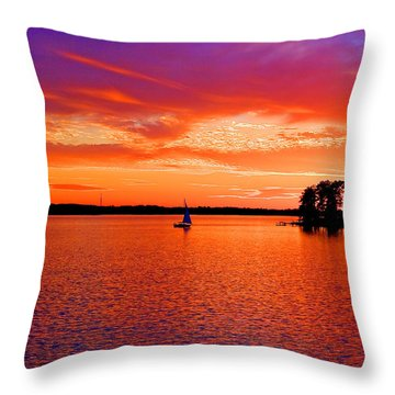 Lake Murray Sunset Throw Pillow