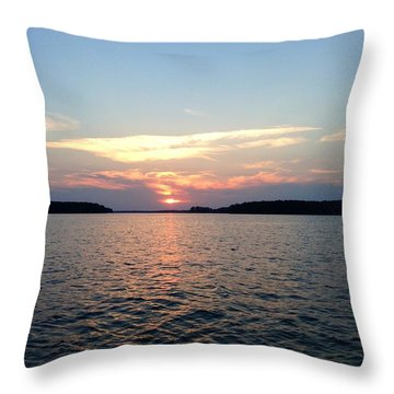 Lake Murray Sunset Throw Pillow