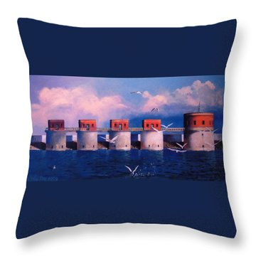Lake Murray Towers Throw Pillow by Blue Sky
