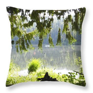 Lake Of Dreams Throw Pillow