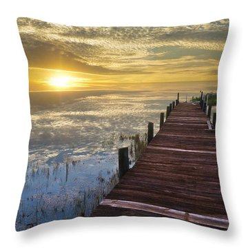 Lake Of Enchantment Throw Pillow by Debra and Dave Vanderlaan
