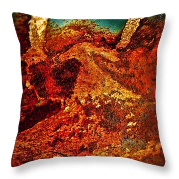 Lake Of Lava Throw Pillow by Leanna Lomanski