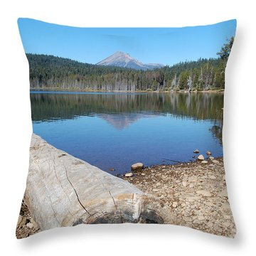 Throw Pillow featuring the photograph Lake Of The Woods 2 by Debra Thompson