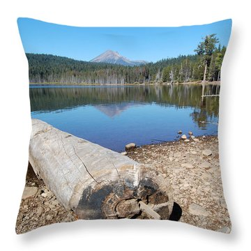 Throw Pillow featuring the photograph Lake Of The Woods 3 by Debra Thompson