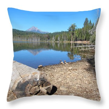 Throw Pillow featuring the photograph Lake Of The Woods 5 by Debra Thompson