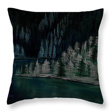 Lake Of The Woods Throw Pillow by Barbara St Jean