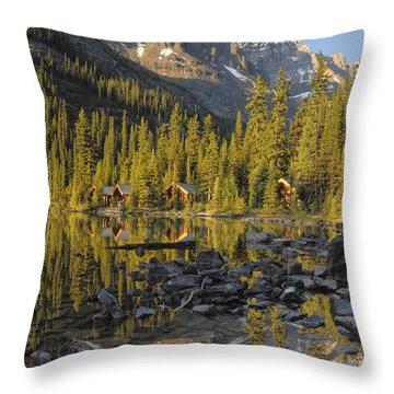 Lake Ohara, Yoho National Park, British Throw Pillow by Peter Carroll