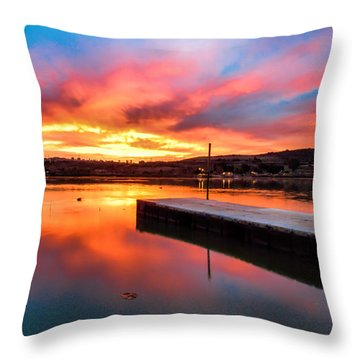 Throw Pillow featuring the photograph Lake Oneil Sunset by Robert  Aycock