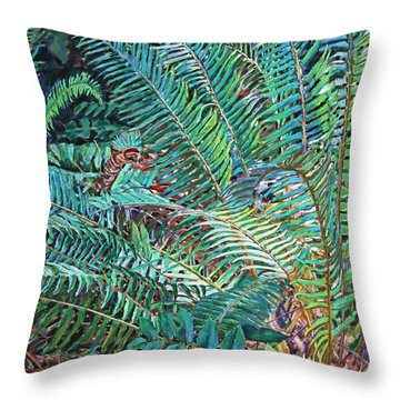 Lake Padden Series - Wendel Holboy Bench Throw Pillow