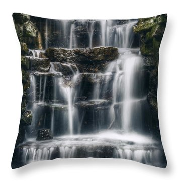 Lake Park Waterfall 2 Throw Pillow