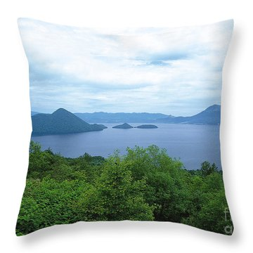 Lake Photography Throw Pillow