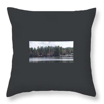 Lake Placid Summer House Throw Pillow by John Telfer