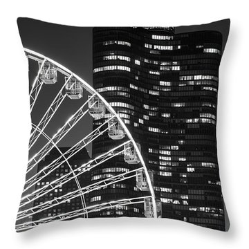 Lake Point Tower Throw Pillow by Sebastian Musial
