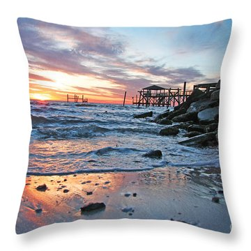 Lake Ponchartrain Sunset Throw Pillow