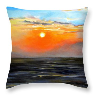 Lake Pontchartrain Sunset  Throw Pillow