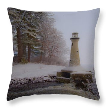 Lake Potanipo Lighthouse Throw Pillow