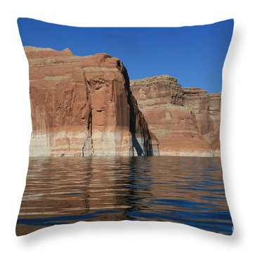 Lake Powell Cliffs Throw Pillow by Marty Fancy