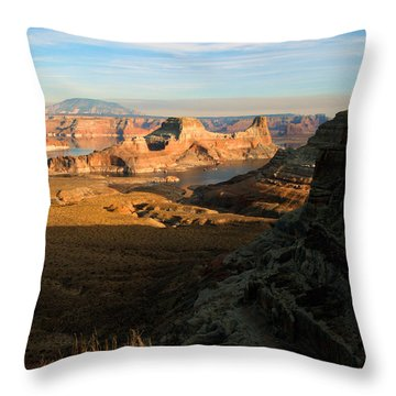 Lake Powell From Alstrum Pt 02 Throw Pillow