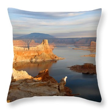 Lake Powell From Alstrum Pt 12 Throw Pillow