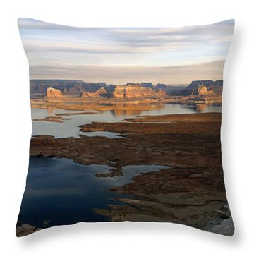 Lake Powell From Alstrum Pt Pan 2 Throw Pillow