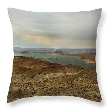 Lake Powell  Throw Pillow by Joseph G Holland