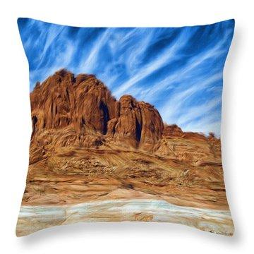 Lake Powell Rocks Throw Pillow by Ayse and Deniz