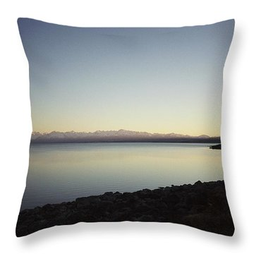 Lake Pukaki First Light Throw Pillow