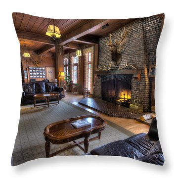 Lake Quinault Lodge Olympic National Park Throw Pillow