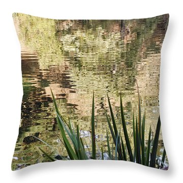 Throw Pillow featuring the photograph Lake Reflections by Kate Brown