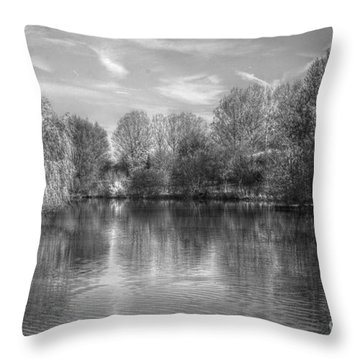 Lake Reflections Mono Throw Pillow
