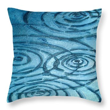 Lake Ripples Throw Pillow