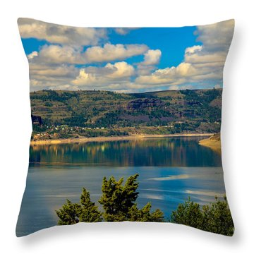 Lake Roosevelt Throw Pillow by Robert Bales
