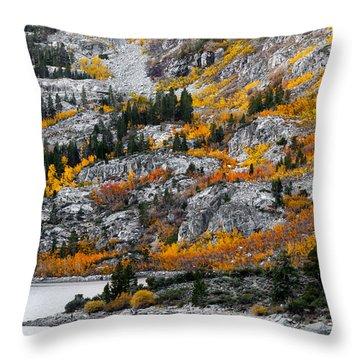 Lake Sabrina At Dawn Throw Pillow by Joe Doherty