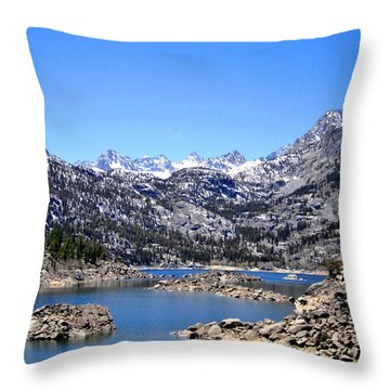 Throw Pillow featuring the photograph Lake Sabrina by Marilyn Diaz