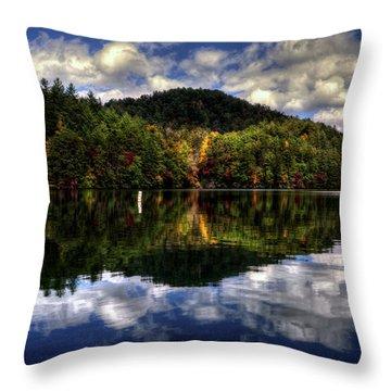 Lake Santeetlah In Fall Throw Pillow